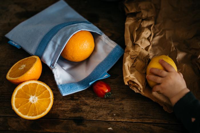 látkový sáček na ovoce